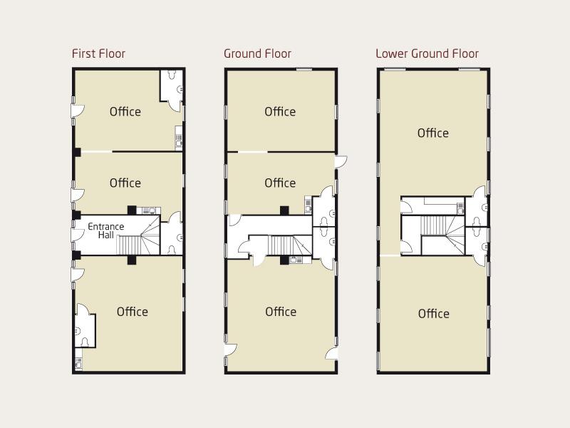 Underley business centre floor plans for Business office floor plans